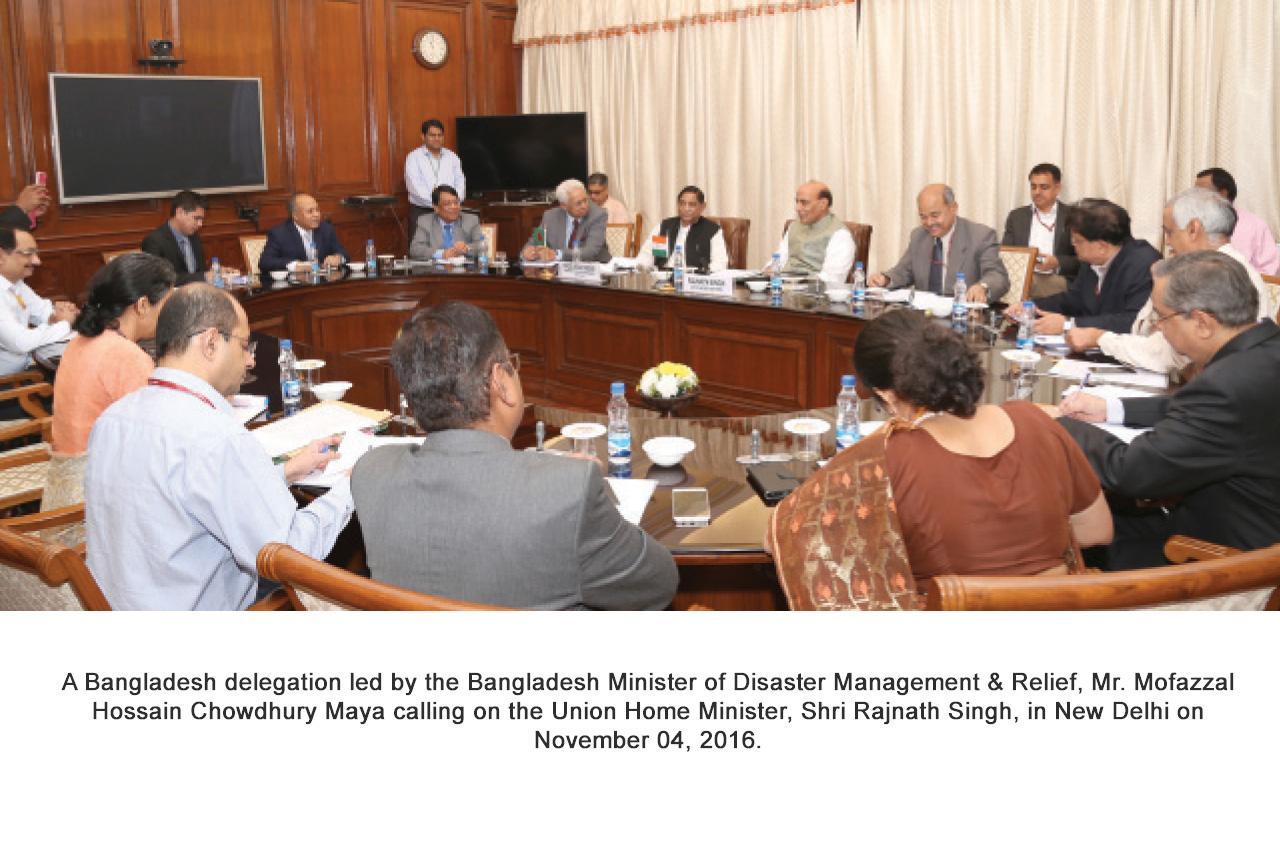 Bangladesh Minister of Disaster Management & Relief, Mr. Mofazzal Hossain Chowdhury Maya calling on the Union Home Minister, Shri Rajnath Singh