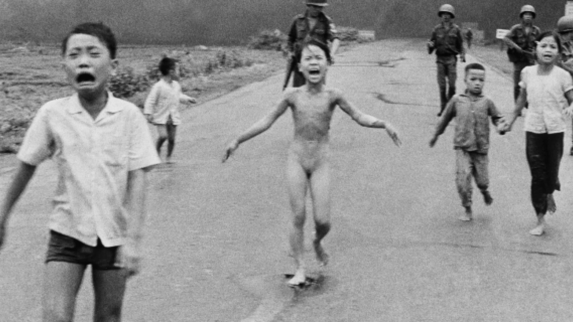 Pulitzer Prize-winning photograph, taken during the Vietnam War – Napalm bombing, by Associate Press photographer Nick Ut in 1972