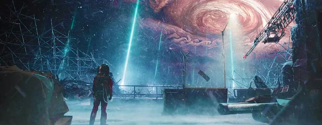 Still from Chinese sci-fi blockbuster, The Wandering Earth