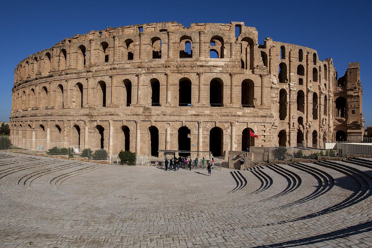 Roman amphitheater in Tunisia built in 3rd century AD