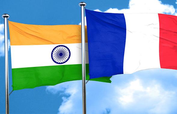 India Flag with France Flag