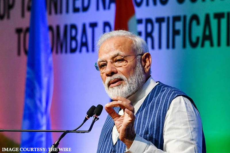 PM Modi announces the government's resolve to tackle land degradation