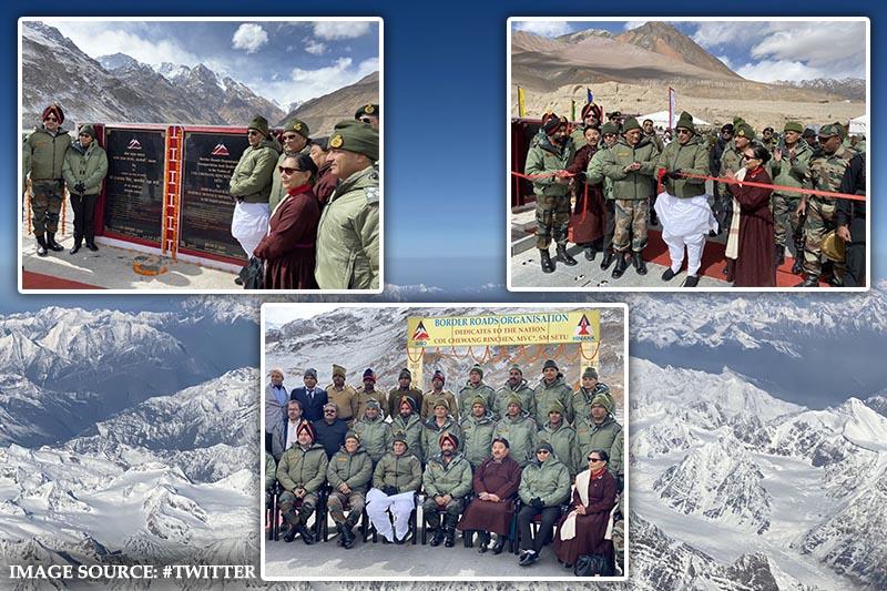 Rajnath Singh inaugurates a strategic bridge at Siachen (Colonel Chewang Rinchin)