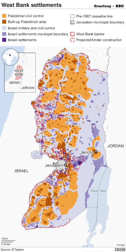 An Image showing West Bank Settlements.