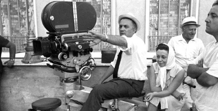 Italian film director Federico Fellini