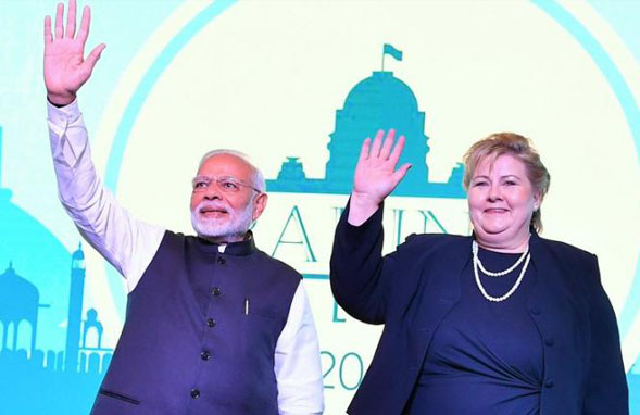 During her three-day state visit to India, Norwegian PM, Erna Solberg discussed bilateral relations with Indian PM, Narendra Modi and delivered the inaugural address at the 4th Raisina Dialogue
