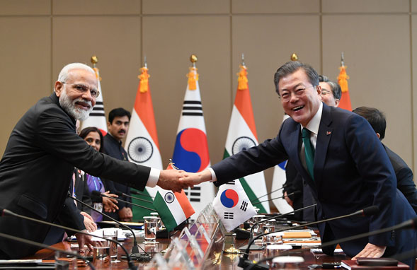 Prime Minister leads delegation level talks with South Korea in Seoul