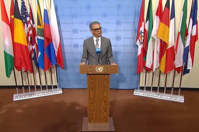 India's Permanent Representative to the UN Ambassador, Syed Akbaruddin