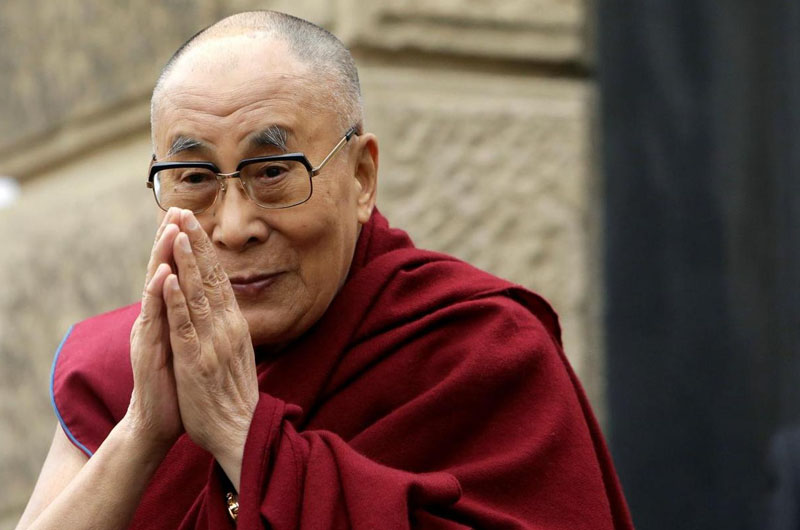 The 14th Dalai Lama who is living in India in political exile