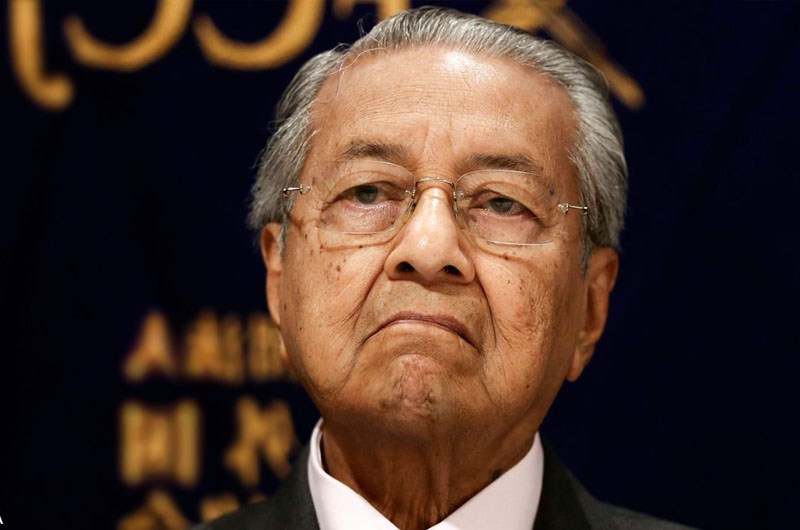 PM Mahathir Mohamad handed his resignation to the Malaysia's monarch