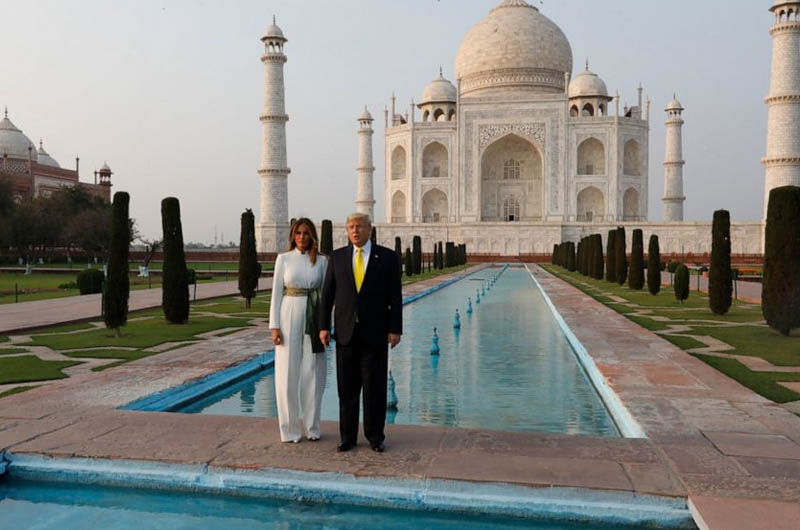 Donald J. Trump, President of the United States of America arrived in India.