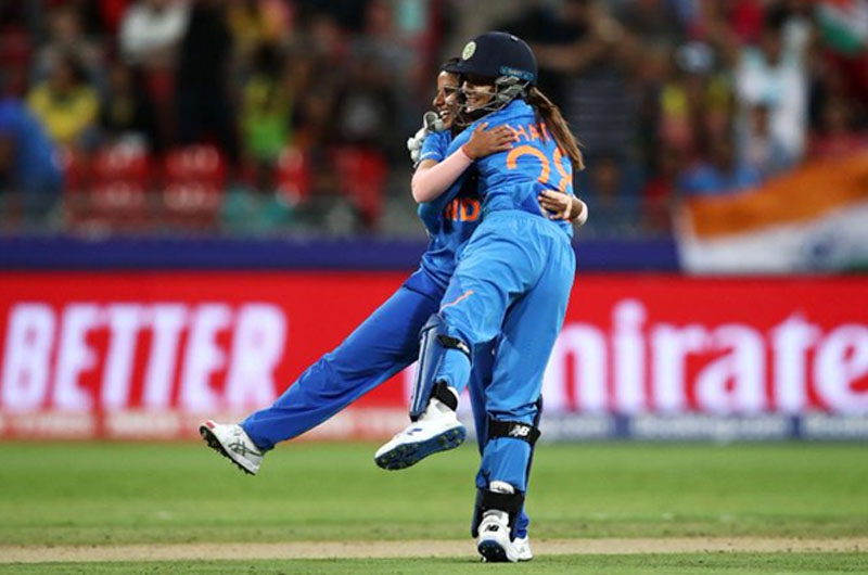 India won their third match to qualify for the semi-finals of the Women's T20 World Cup