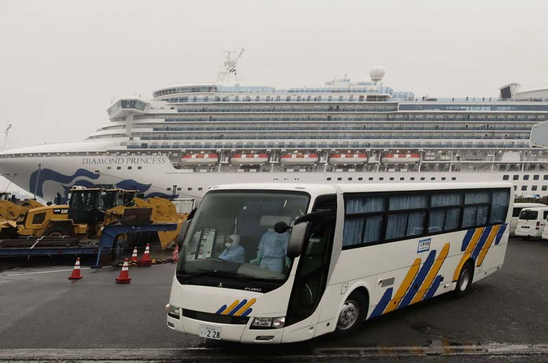 U.S. begins evacuation of Americans from the quarantined cruise ship.