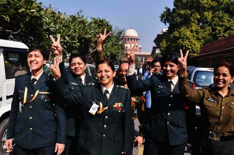 Women officers in the Army can get commanding positions.