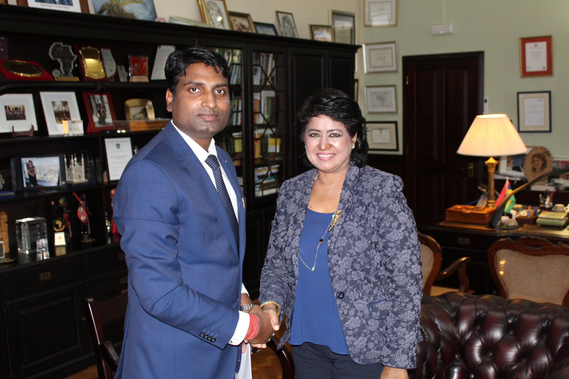 CEO & Publisher of Diplomacy & Beyond Plus with the Hon. President of the Republic of Mauritius, H.E. Ameenah Gurib-Fakim