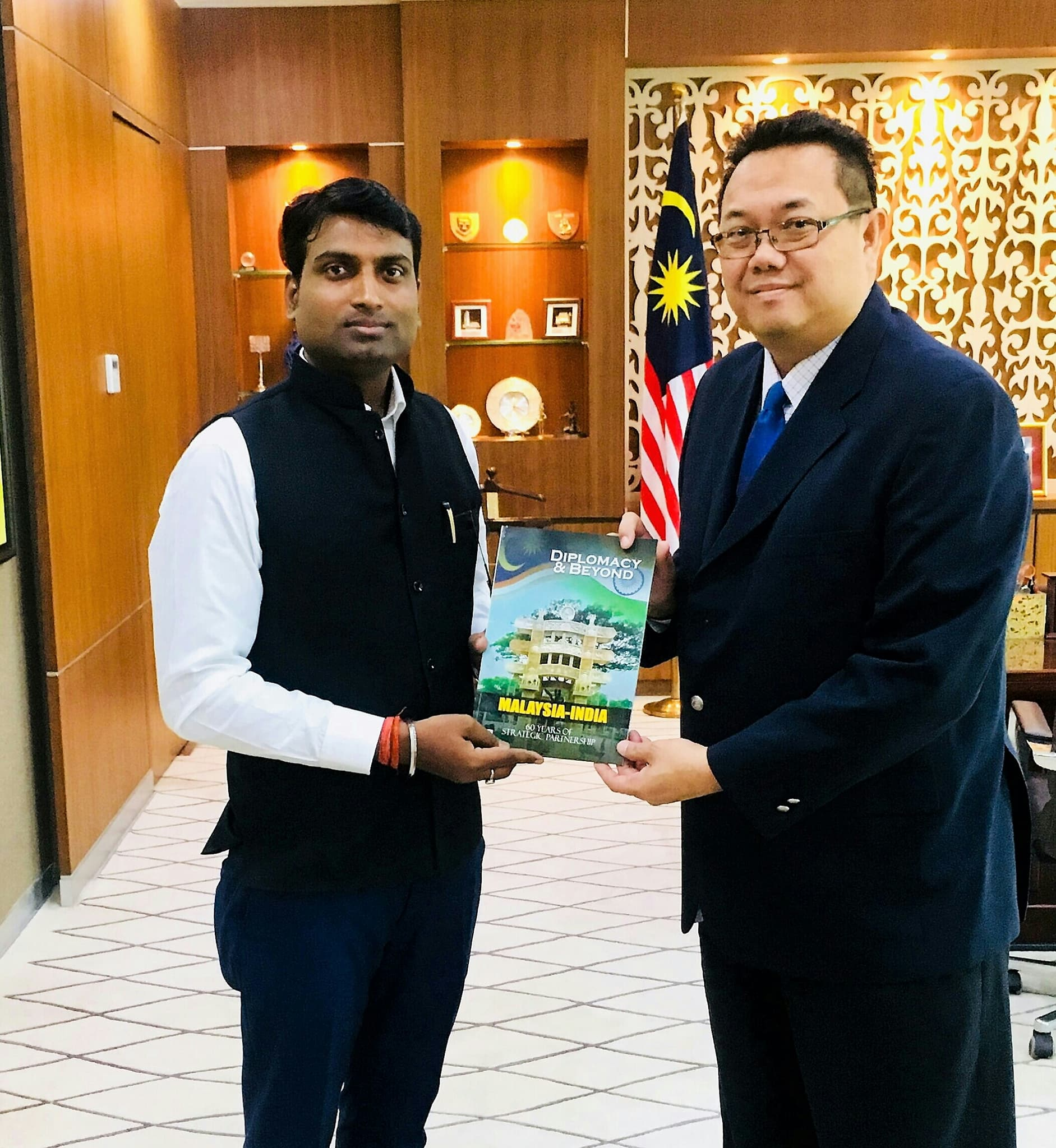 CEO & Publisher of Diplomacy & Beyond Plus with the Hon. High Commissioner of Malaysia to India