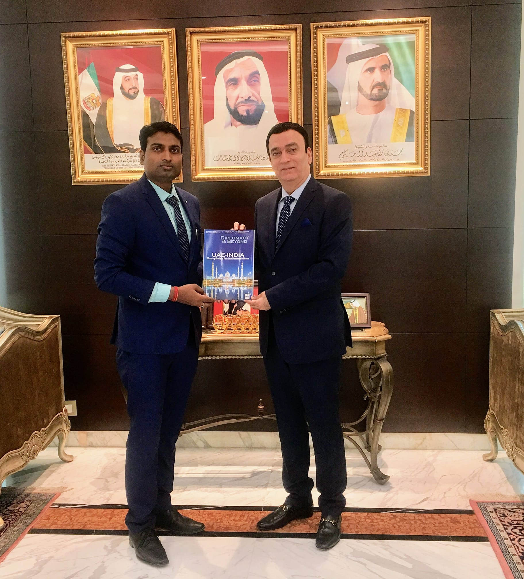 CEO & Publisher of Diplomacy & Beyond Plus with the Hon. Ambassador of UAE to India