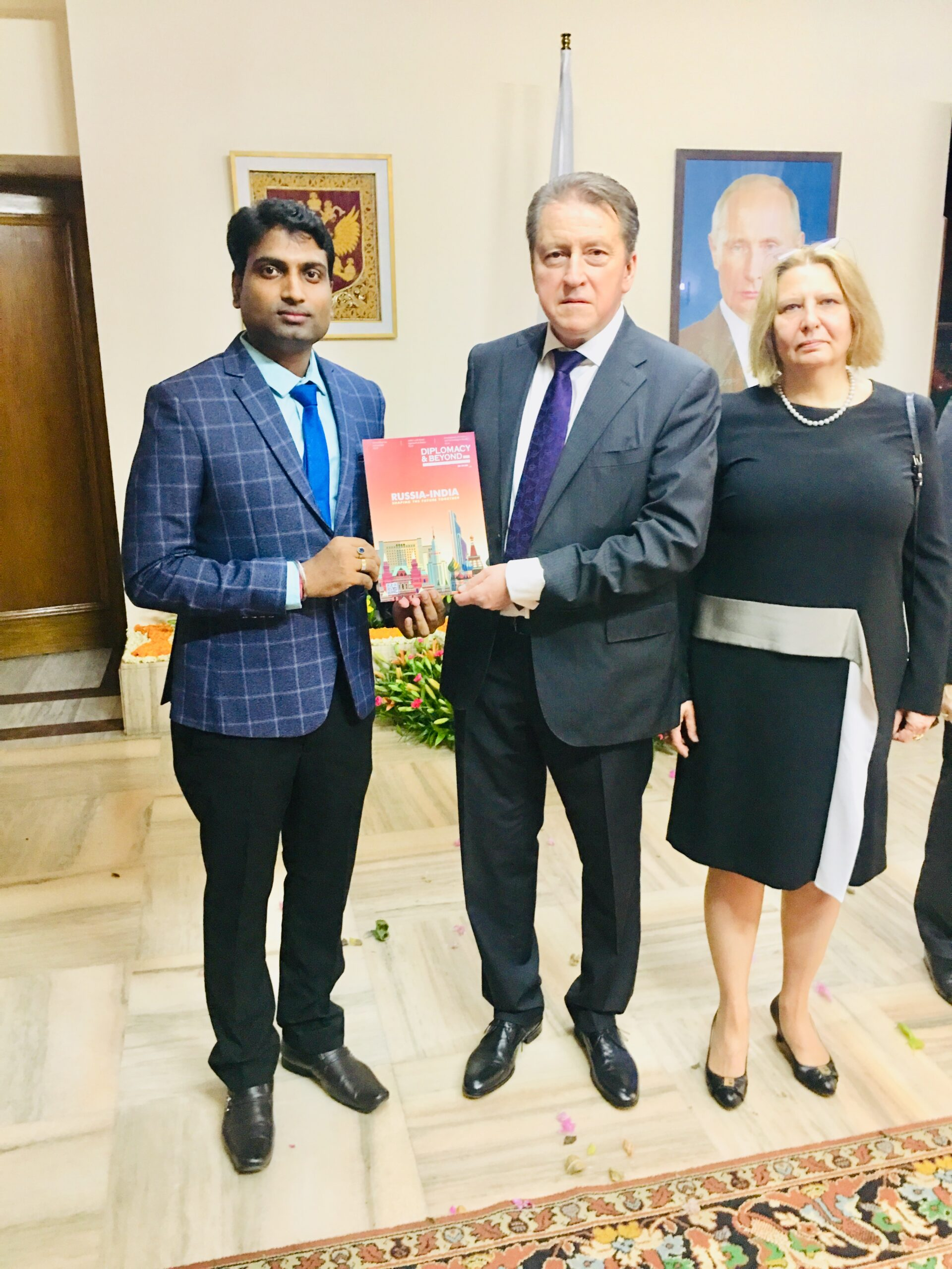 CEO & Publisher of Diplomacy & Beyond Plus with the Hon. Ambassador of Russia to India