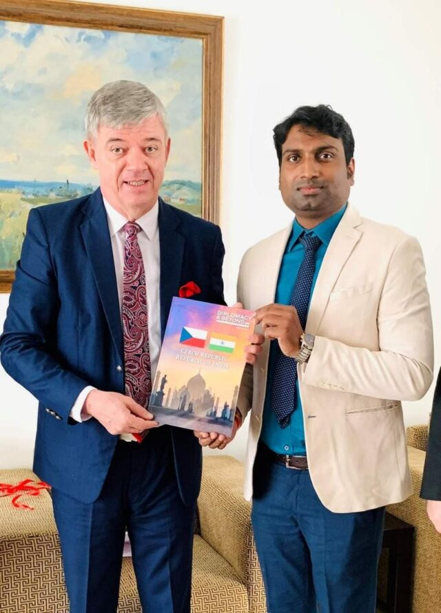 CEO & Publisher of Diplomacy & Beyond Plus with the Hon. Ambassador of Czech Republic to India.